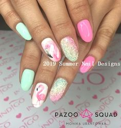 Want some ideas for wedding nail polish designs? This article is a collection of our favorite nail polish designs for your special day. Cute Summer Nail Designs, Simple Nail Art Designs, Diy Nail Designs, Short Nail Designs, Nail Polish Designs, Summer Design, Manicure Rose, Manicure Y Pedicure, Bright Summer Nails