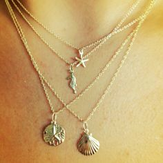 Starfish or Seahorse Necklace 14kt Gold Filled by MishaHawaii, $48.00