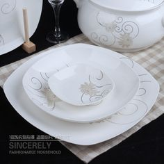 beautiful bone china dishes | Exquisite kitchen and beautiful bone China tableware bowls set at ...
