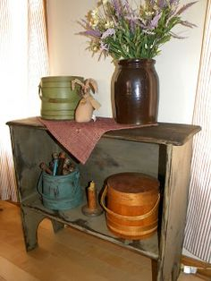 Lee Hill Primitives: A New Tutorial....... Bucket Table