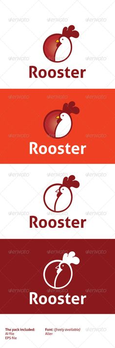 Rooster — Vector EPS #brand #breakfast • Available here → https://graphicriver.net/item/rooster/2304884?ref=pxcr