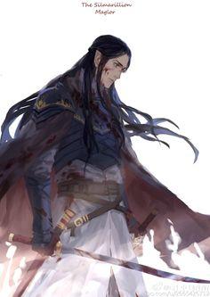 Maglor: Es el segundo hijo de Fëanor y Nerdanel.Nació algún momento durante las Edades de los Árboles. Pronunció el Juramento de su padre sobre los silmarils. Paticipó en la Matanza de los Hermanos de Alqualondë, y se lamentó de ese suceso.