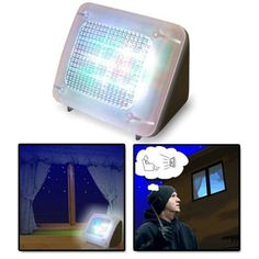 Allezola Fake TV/ Fernseh Attrappe/ LED TV/ TV Simulator/ automatic security light/ Einbruchschutz/ Home Security/ 20 farbige LED's