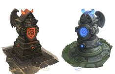 ArtStation - Orange vs Blue Towers, Stoyan Stoyanov