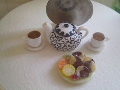 Dollhouse Miniature Half Inch Scale Tea and by SpykerMiniatures, $9.99