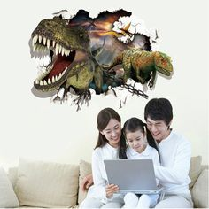 Find More Wall Stickers Information about 3D PVC Dinosaurs Mural Wall Stickers for children's living room, removable Waterproof Dinosaur Decorative wallpaper WS003,High Quality stickers crocodile,China sticker glitter Suppliers, Cheap stickers french from Household Products wholsale and Retail on Aliexpress.com