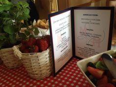 Menu at my wedding; #menu #wedding #americanpicnic #picnicwedding #strawberries #patrioticwedding