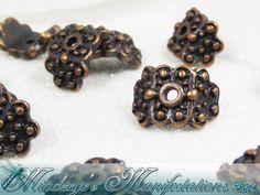 !!35 Antq Copper Arched Bead Cap 10x8.5mm  #149. Starting at $5 on Tophatter.com!