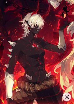 Anime Demon Boy, Dark Anime Guys, Cute Anime Guys, Fantasy Character Design, Character Inspiration, Character Art, Anime Art Fantasy, Dark Fantasy Art, Dibujos Percy Jackson
