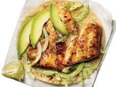 Blackened Tilapia Baja Tacos by My Recipes. Make food truck-style fish tacos at home using fresh tilapia, avocado, cilantro and corn tortillas and topping with a creamy onion-jalapeño mixture for amazing flavor! Fresh Seafood with a KICK! Tilapia Recipes, Fish Recipes, Seafood Recipes, Mexican Food Recipes, Dinner Recipes, Cooking Recipes, Healthy Recipes, Cooking Food, Healthy Habits