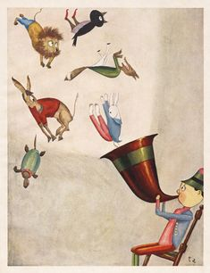 Takeo Aesop - 50 Watts    Illustrations from a 1925 edition of Aesop's Fables, from 50 Watts fave Takeo Takei