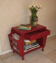 Vintage Magazine Racks For Sale   Little Red Magazine Rack Side Table