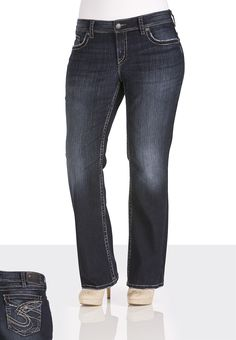 Silver Jeans Co. ® Suki Surplus Jeans - maurices.com ---  dark wash jeans are a MUST!!