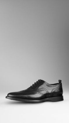 $575, Classic Leather Brogues by Burberry. Sold by Burberry. Click for more info: http://lookastic.com/men/shop_items/156044/redirect
