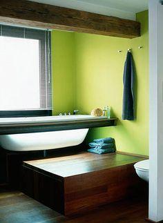 Πράσινος τοίχος σε διάφορες αποχρώσεις στο σαλόνι, στην τραπεζαρία, στην κουζίνα, στο μπάνιο | Small Things