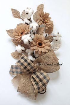 Daisy Cotton Boll Bouquet, 2nd Anniversary Bouquet, Natural Cotton Boll, Cotton Anniversary Gift, Cotton for 2nd Anniversary, Natural Cotton