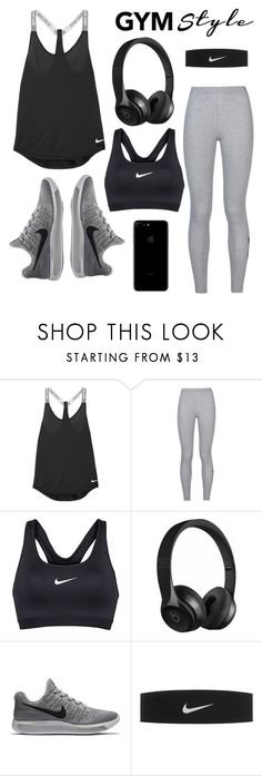 """Gym Style"" by lampron7 ❤ liked on Polyvore featuring NIKE and Beats by Dr. Dre"