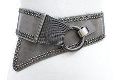 Friendly Fashion Punk Hip-hop Solid Color Genuine Leather Belts Waist Metal Chain Male Pants Men Women Tide All-match Cool Accessories Lustrous Women's Belts