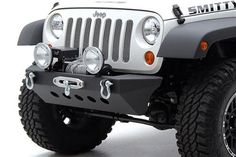 Smittybilt - SRC Classic Rock Crawler Front Bumper with Winch Plate and D-ring Mounts - Fits 2007 to 2016 Jeep JK Wrangler, Rubicon and Unlimited - 4WheelParts.com