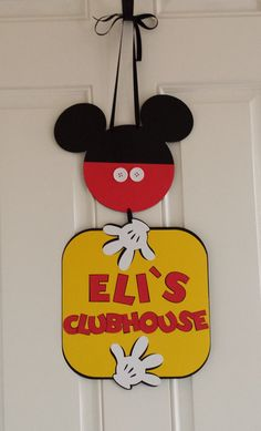 Mickey Mouse Party. Clubhouse Door Sign