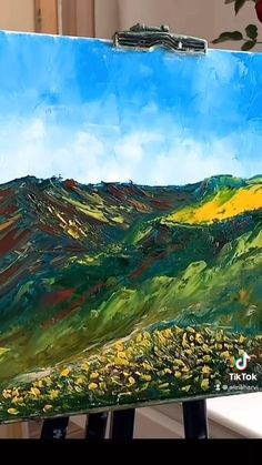 Abstract Landscape Painting, Abstract Oil, Watercolor Landscape, Landscape Art, Landscape Paintings, Landscapes, Oil Painting Techniques, Painting Videos, Oil Painting Materials