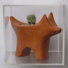 Rebecca Gruliow, Terra Cotta Dog with Cactus, 2010, terracotta, terra sigilata