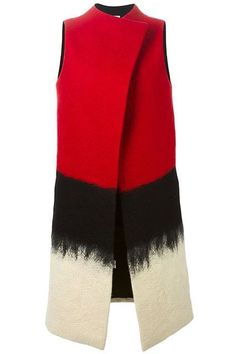 SYBILLA felted long vest Explore Urban Outfitters collection of men's accessories, featuring the sea Long Blazer Jacket, Red Blazer, Looks Style, My Style, Red Vest, Fashion Outfits, Womens Fashion, Fashion Trends, Long Vests
