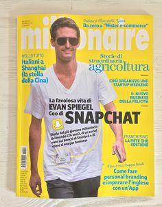Cover magazine design layout.  Millionaire.  Art director