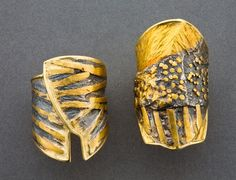 Marne Ryan's textured metal rings - from Metalsmithing Artistry: Create Textures on Metal by Fusing with Marne Ryan's 5 Tips - Jewelry Making Daily