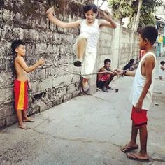 Photo by: Street Philippines Traditional filipino game Philippines Culture, Philippines Travel, Childhood Games, Childhood Memories, Filipino Culture, Photographs And Memories, Filipiniana, Traditional Games, Island Girl