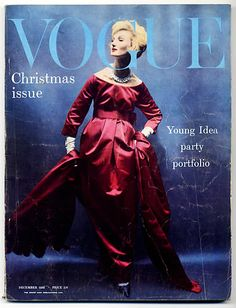 1958-59 - Yves Saint Laurent for Christian Dior by William Klein for Vogue cover