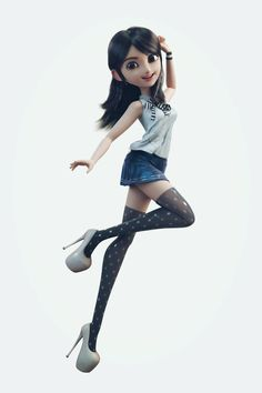 Girl by Yuheng Jiang | Cartoon | 3D | CGSociety
