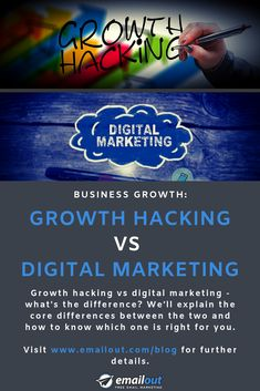 Growth hacking vs digital marketing - what's the difference? We'll explain the core differences between the two and which approach is right for you. Free Email Marketing, Digital Marketing Business, Growth Hacking, Competitor Analysis, New Market, How To Know, Core, Hacks, Amazing