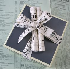 music paper gift wrapping