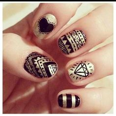 Tribal Girly Nails