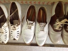 My collection of vintage shoes from plays I've done.