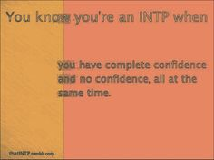 This one comes out as a secondary type. I really think this one is more accurate. INTP. That explains that.