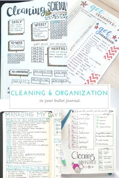 Bullet Journal Cleaning & Organization Spreads. Click picture to take you to the Instagram profile!