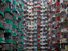Hong Kong balconies as extensions of life. Photo by Michael Wolf (www.photomichaelwolf.com).