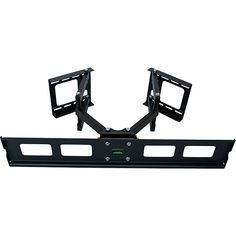 This articulating TV wall mount with swivel and tilt features a unique articulating wall mount designed specifically for corner installation. The independent wall mount arms allows installation on a corner, as well as on straight wall.