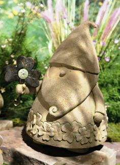 GR Gnome Figurine With Shamrock. This Gnome holds a metal shamrock which has glow in the dark ball in the center. This statue is crafted from weather-resistant cement/resin for years of long-lasing beauty. #GrasslandsRoad #DublinCourt #Shamrock #Gnome #DetailedCementSculpture #Gift #Garden #Home #Decor #Solution #StPatricks #StPattys #GID #Stand #Large #Heavy #GreatQuality #Beautiful #Clover #Luck #Lucky