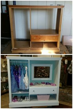 Diy dress up closet. diy dress up closet furniture projects, kids Furniture Projects, Furniture Makeover, Diy Projects, Furniture Nyc, Furniture Design, Timber Furniture, Furniture Outlet, Discount Furniture, Diy For Kids