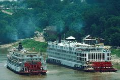 Delta Queen and Mississippi Queen.  Lots of memories for these two boats.