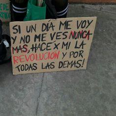 Hace la revolución por mí y todas las demás