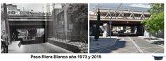 Paso de la Riera Blanca en el año 1973 y 2015