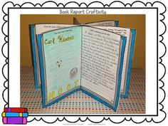 BOOK REPORT CRAFTIVITY FOR FICTION BOOKS - a fun way to display your students' learning.  Use with independent reading, read alouds, novel studies, etc. $