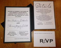 Simple and Classic Wedding Invitations