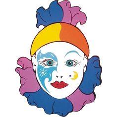 Maestra de Infantil: Payasos. Caretas para imprimir. Dibujos para colorear. Emoticon, Cinderella, Disney Characters, Fictional Characters, Clip Art, Disney Princess, Illustrations, Ideas, Free Coloring Pages