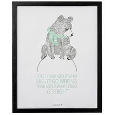 "Found it at Wayfair - ""Don't Think About What Might Go Wrong…"" Framed Art"