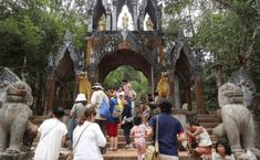 Phnom Kulen, one of the great marvels in Cambodia lies 50 km north east of Siem Reap. Sacred Mountain, Siem Reap, Beautiful Waterfalls, Mountain Range, Open Up, Day Tours, Day Trip, Cambodia, Trek